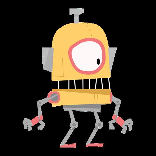 Dibujo de ojo de mano de caja de robot Transparent PNG