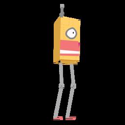 Bosquejo de caja de antena de ojo de robot