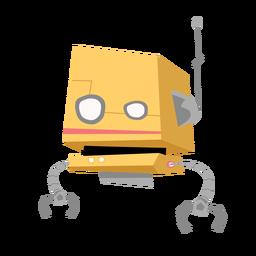 Desenho de antena de caixa ocular de robô