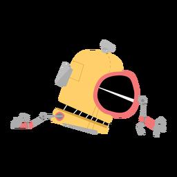 Desenho de mão de caixa de olho de robô