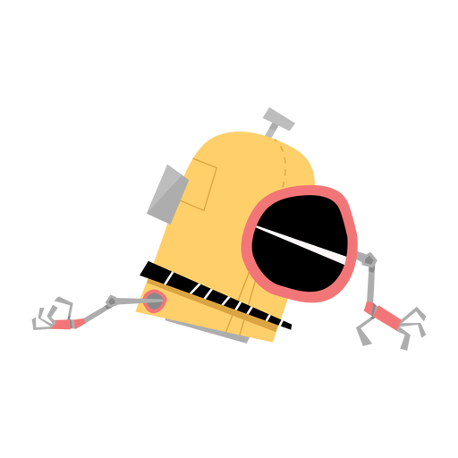 Bosquejo de mano de caja de ojo de robot Transparent PNG