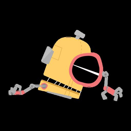 Dibujo de mano de caja de ojo de robot Transparent PNG