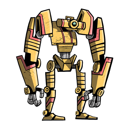 Robot transformador plano Transparent PNG