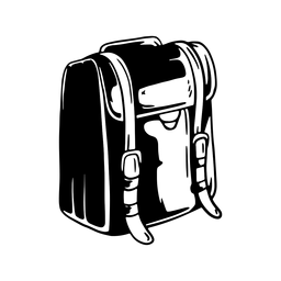 Rucksack satchel knapsack detailed silhouette
