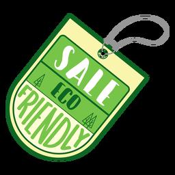 Etiqueta adhesiva ecológica de venta