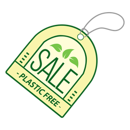 Sale plastic free badge sticker