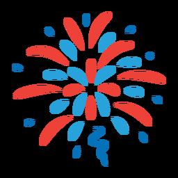 Salute beam firework ray star badge sticker
