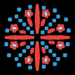 Adesivo de distintivo de raio de estrela de fogo de artifício de saudação