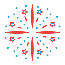 Salute beam firework star ray badge sticker