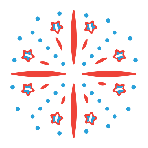 Etiqueta engomada de la insignia del rayo de la estrella de los fuegos artificiales del haz del saludo