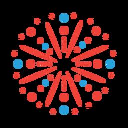 Salute firework ray beam star badge sticker