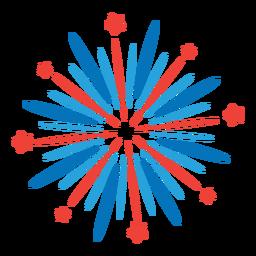 Salute firework ray star beam badge sticker