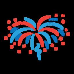 Adesivo de distintivo de raio de raio de estrela de fogo de artifício de saudação