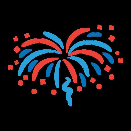 Adesivo de distintivo de raio estelar de fogos de artifício