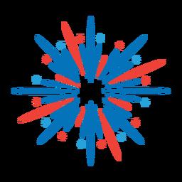 Etiqueta de distintivo de feixe de raio de estrela de fogo de artifício de saudação