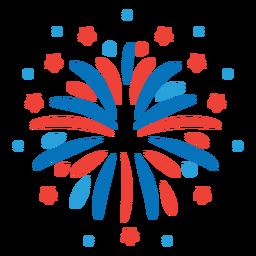 Autocolante com o emblema de estrela de feixe de fogo de artifício Salute ray