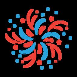 Adesivo de distintivo de feixe estrela de fogo de artifício de saudação