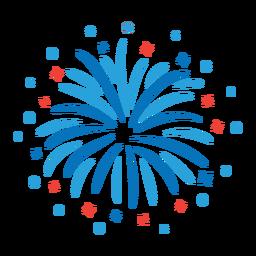 Etiqueta de distintivo de raio de feixe de fogo de artifício estrela de saudação
