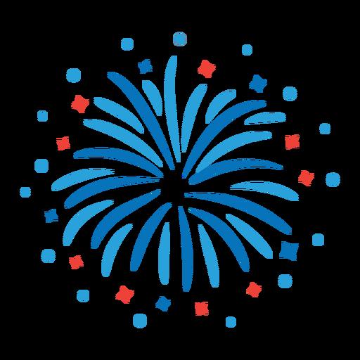 Etiqueta engomada de la insignia del rayo del rayo de los fuegos artificiales de la estrella del saludo