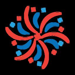 Etiqueta de distintivo de feixe de raio de fogo de artifício estrela saudação