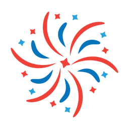 Salute star firework ray beam badge sticker