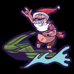 Weihnachtsmann Mütze Mütze Jet Ski Welle Läufer flach