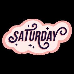 Etiqueta engomada de la insignia del sábado