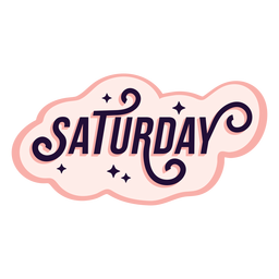 Saturday badge sticker