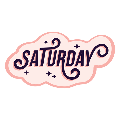 Saturday badge sticker Transparent PNG