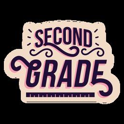 Etiqueta do segundo grau