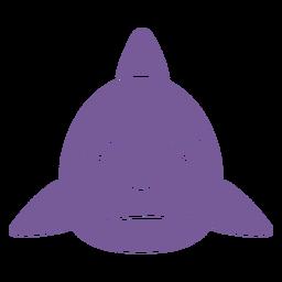 Shark angry head muzzle flat