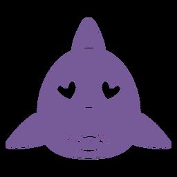 Focinho de cabeça de tubarão apaixonado