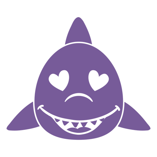 Shark enamoured head muzzle flat Transparent PNG