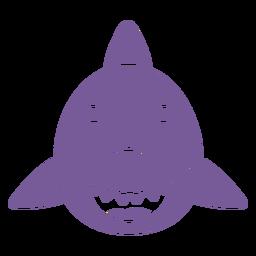Shark happy head muzzle flat