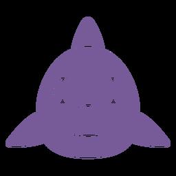 Shark joyful head muzzle flat