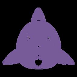 Shark sad head muzzle flat