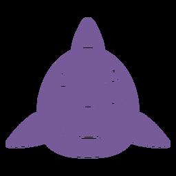 Shark wink head muzzle flat
