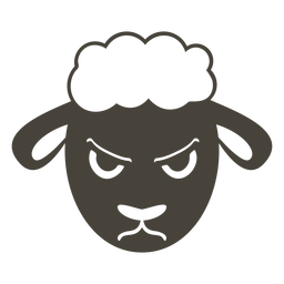 Ovelhas com raiva focinho cabeça plana