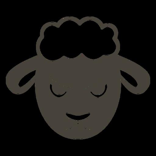 Ovejas enojado cabeza hocico plano Transparent PNG