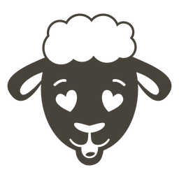 Sheep enamoured head muzzle flat