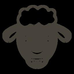Ovelha cabeça feliz focinho plana