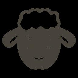 Ovelha cabeça alegre focinho plana