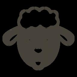 Ovelha cabeça triste focinho plana