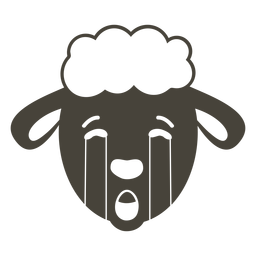 Sheep sad head muzzle flat