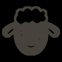 Bozal de cabeza de guiño de oveja plano