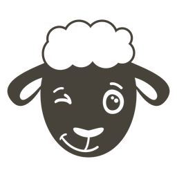 Sheep wink head muzzle flat