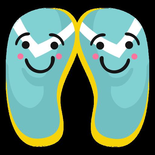 Slide shoes flip flops jandals smile flat Transparent PNG