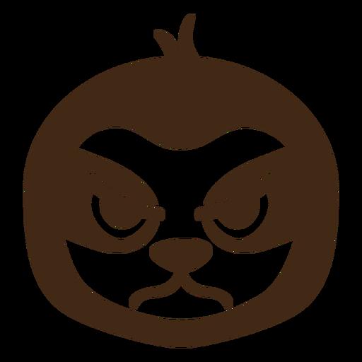 Sloth angry head muzzle flat