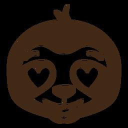 Preguiça enamorada cabeça focinho plana