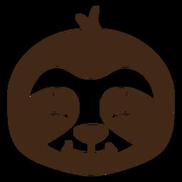 Bozal de cabeza feliz perezoso plano